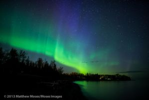 Northern Lights along Lake Superior by MosesImages