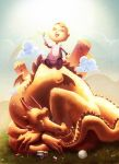 fille et dragon by Magnusss
