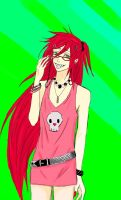 Grell... kogal Style by anko86