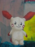Plusle Painting: Plusle Detail by sanglante-melodie