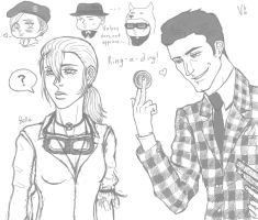 Fallout: NV sketches by VideoGameGirl