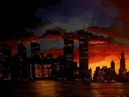 New York Sunset by 3ampainter