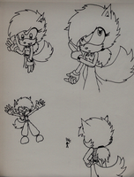 Misc. Lea sketches by LeaTheWolf