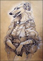 Borzoi Lady by TheUrbanFox
