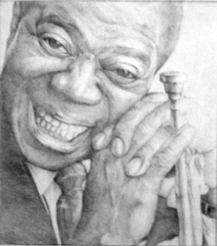 Louis Armstrong by mercurium