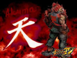 SFIV Akuma Wallpaper by lunadivervii