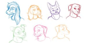 Anthro canines by Stais