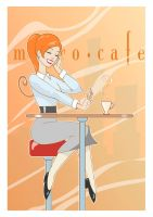 redhead at cafe by shed2602