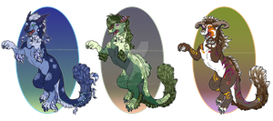 -3 Dragon designs- by TripletNr2