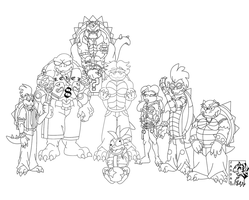 Koopalings Free to Color by Songficcer