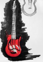 red guitar by annonim