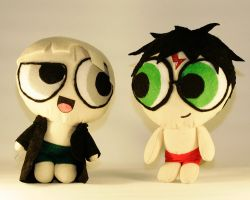 Power Puff Harry and Draco by TempestStrife
