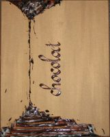 chocolate calligraphy by Nyniel