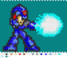 MegaMan X Peyote Large Beading Pattern by dragonariaes