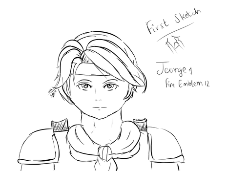 First ever digital art attempt! Jeorge from FE by The-Firebending-Girl
