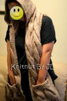 Hooded scarf by Knitnutbyjl