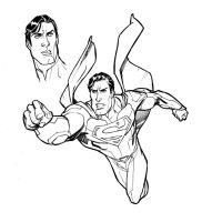 Brush-Superman-study-II-BW by StephaneRoux