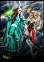 Ms. Marvel vs Rogue by megmurrderher
