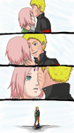 NaruSaku- Charming Forehead by ShadowedbyRain