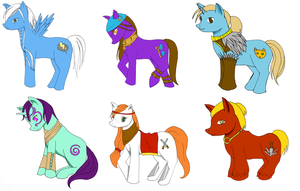 Dragon Age Ponies (with Anders and Varric) by Sorakaji