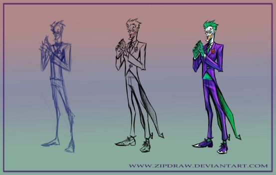 Joker warmup by ZipDraw