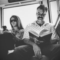 Reading on the L by jonniedee