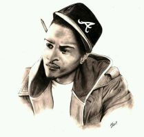 T.I. Pencil Drawing by julydart