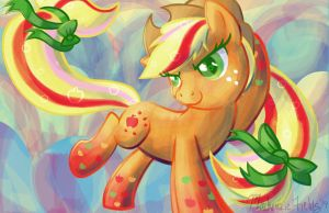 Applejack Rainbow Power by GhostlyMuse