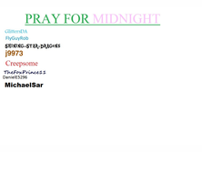 Pray For Midnight by Michaelsar