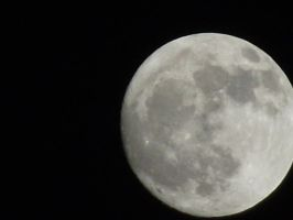 Nearly a full moon but not a full moon by ak21626