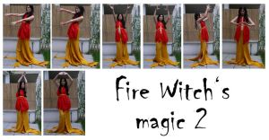 fire witch's magic 2 by syccas-stock