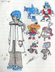 Sketch-chara 3 Locobots by Fede by ezequielsosa