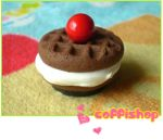 Creamy waffle magnet by coffishop