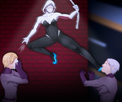 Spider Gwen vs Hech Girls by JeyraBlue