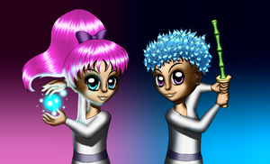Yin Yang Yo -human forms- new by Chibi-Sugar