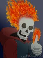 Fire Skeleton by Diemon007