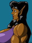 Elf Woman Profile by ArchangelDreadnought