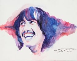 George Harrison by montalvo-mike