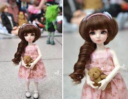 Belina at her first dollmeet by prettyinplastic