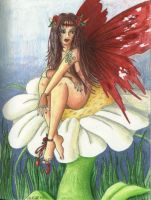 The Red Faerie by Audriana