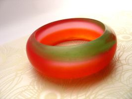 Candy resin bracelet bangle by TopazTurtle