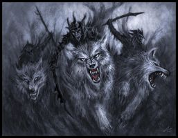 Wolf Riders by Jakdaw