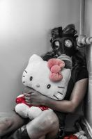 Hello Kitty and Gas Mask by Studio5Graphics
