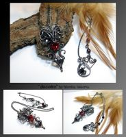 Jacolin- wire wrapped silver necklace by mea00
