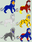 Adoptables by TFP-Steeljaw
