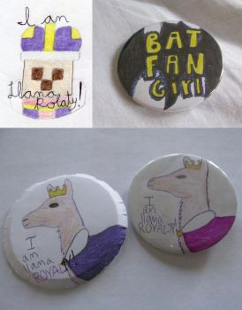 Custom Pin-Back Buttons by wintercool612