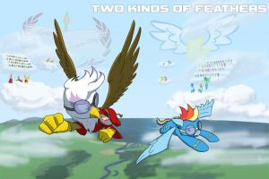 Commission: Two Kinds of Feathers cover by CaptainHoers