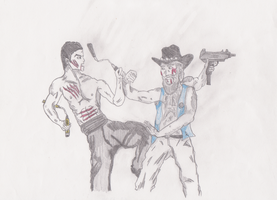 Bruce Lee Vs Chuck Norris by MS-Make