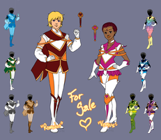 (OPEN) Adoptable: Venusian Senshi Designs by EMReven