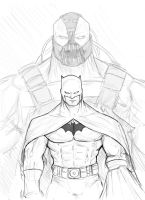 Bat and Bane Sketch by TruZe